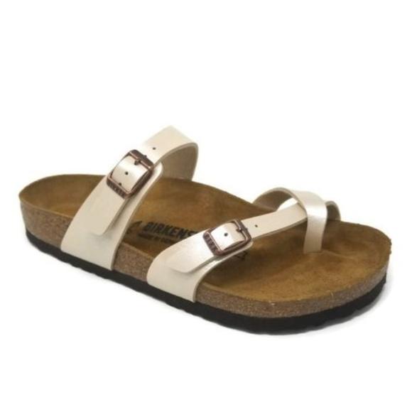 65c6426dd61d New Birkenstock Mayari Birkibuc Sandal Pearl White